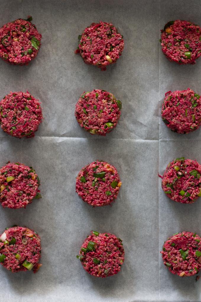 Quinoa and Beet Patties