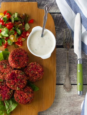 Quinoa and Beet Patties