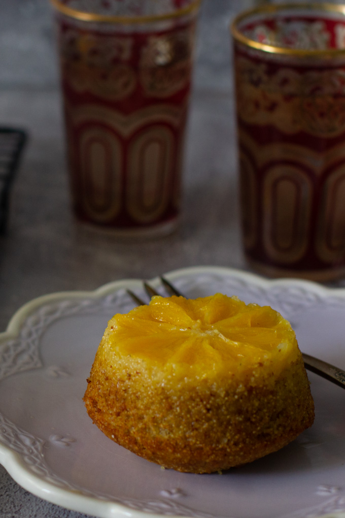 Upside Down Orange Muffins with Semolina and Spelt Flour