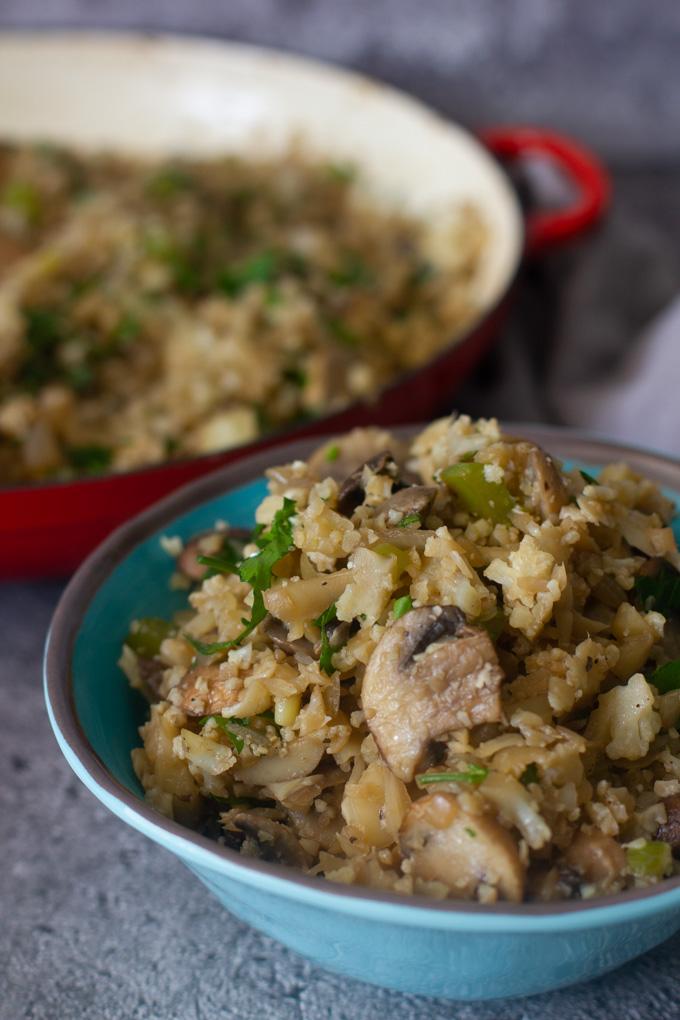 Cauliflower Rice with Mushrooms