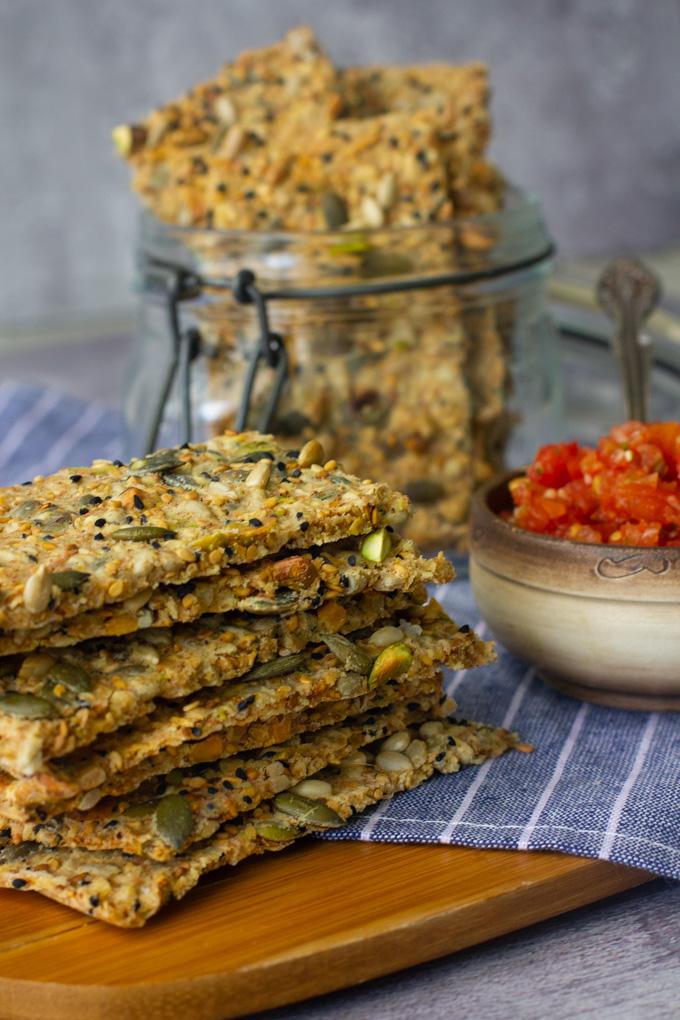 Vegan Spelt Crackers