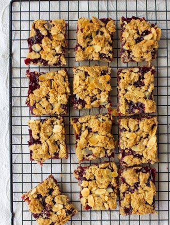 Vegan Cherry Crumb Bars