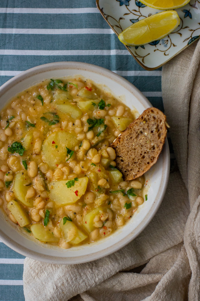 potato and white bean soup