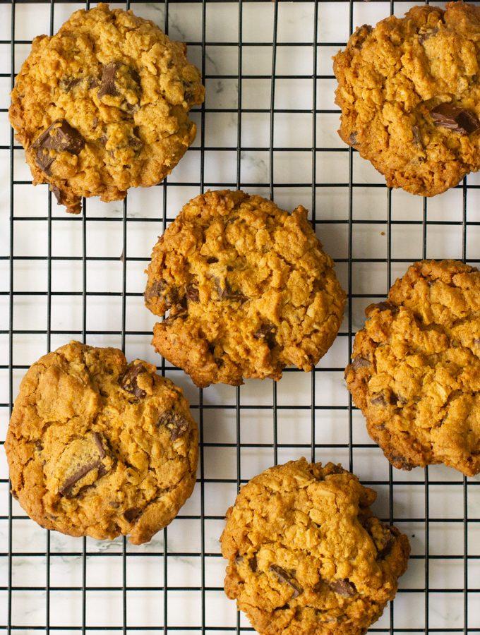 עוגיות שיבולת שועל שוקולד צ'יפס